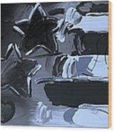 Max Americana In Cyan Wood Print