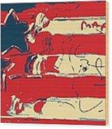 Max Americana In Hope Wood Print