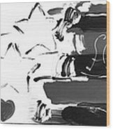 Max Americana In Negative Wood Print