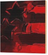 Max Americana In Red Wood Print
