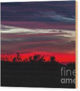 Max Patch Sunset Wood Print
