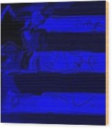 Max Stars And Stripes In Blue Wood Print
