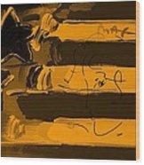 Max Stars And Stripes In Orange Wood Print