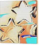 Max Two Stars In Inverted Colors Wood Print