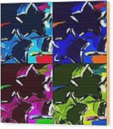 Max Two Stars In Pf Quad Colors Wood Print