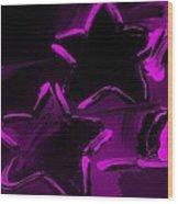 Max Two Stars In Purple Wood Print