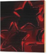 Max Two Stars In Red Wood Print