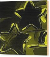Max Two Stars In Yellow Wood Print