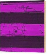 Max Woman In Purple Wood Print