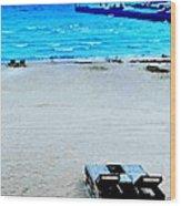 May Beach At Mackinaw Wood Print