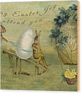 May Easter Joy Attend You Wood Print