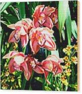 Joy Orchids Wood Print