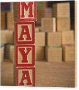Maya - Alphabet Blocks Wood Print