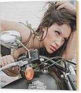 Maya And Harley Wood Print
