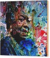 Maya Angelou Paint Splash Wood Print
