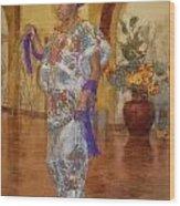 Maya Woman-mexico V2 Wood Print