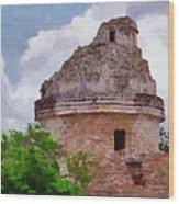 Mayan Observatory Wood Print