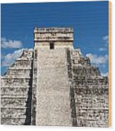 Mayan Temple Pyramid At Chichen Itza Wood Print