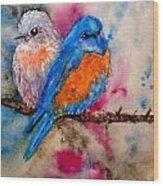 Maybe She's A Bluebird Cropped Wood Print