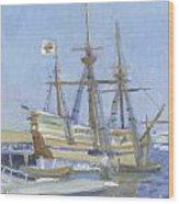Mayflower At Birth Wood Print