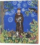 May's St. Francis Wood Print by Sue Betanzos