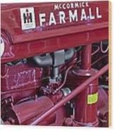 Mc Cormick Farmall Super C Wood Print by Susan Candelario