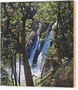 Mcarthur-burney Falls Side View Wood Print