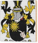 Mcbrady Coat Of Arms Irish Wood Print