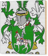 Mccaffrey Coat Of Arms Irish Wood Print