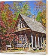 Mccall Cabin Wood Print