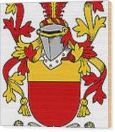 Mccarron Coat Of Arms Irish Wood Print