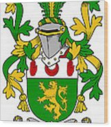Mccartan Coat Of Arms Irish Wood Print