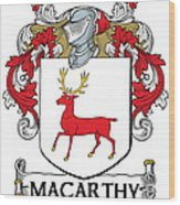 Mccarthy Coat Of Arms Cork Ireland Wood Print