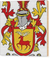 Mccartney Coat Of Arms Irish Wood Print