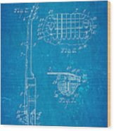 Mccarty Gibson Les Paul Guitar 2 Patent Art 1955 Blueprint Wood Print