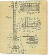 Mccarty Gibson Les Paul Guitar Patent Art 1955 Wood Print
