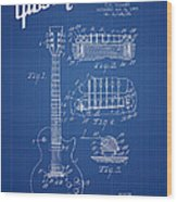 Mccarty Gibson Les Paul Guitar Patent Drawing From 1955 - Bluepr Wood Print