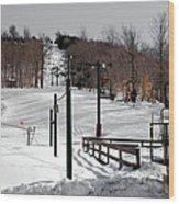 Mccauley Mountain Ski Area Vi- Old Forge New York Wood Print