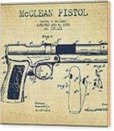 Mcclean Pistol Drawing From 1903 - Vintage Wood Print