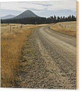 Mcclellan Creek Rd Helena Montana Wood Print by Dana Moyer