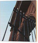 Mcclellan Gate In Arlington Wood Print