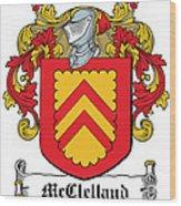 Mcclelland Coat Of Arms Ulster Ireland Wood Print