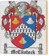 Mcclintock Coat Of Arms Donegal Ireland Wood Print