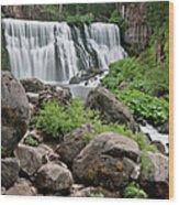 Mccloud Falls Wood Print