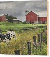 Mcclure Farm Wood Print