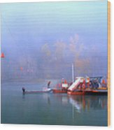 Mcclure Ferry Wood Print by Theresa Tahara