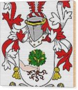Mccluskie Coat Of Arms Irish Wood Print