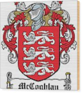 Mccoghlan Coat Of Arms Irish Wood Print