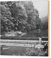 Mcconnell Mills B W Wat 255 Wood Print by G L Sarti