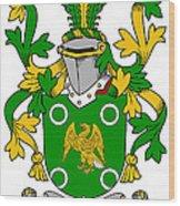 Mcconville Coat Of Arms Irish Wood Print
